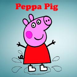 Colorear a Peppa Pig