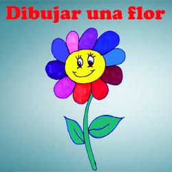 Dibujar y colorear una flor