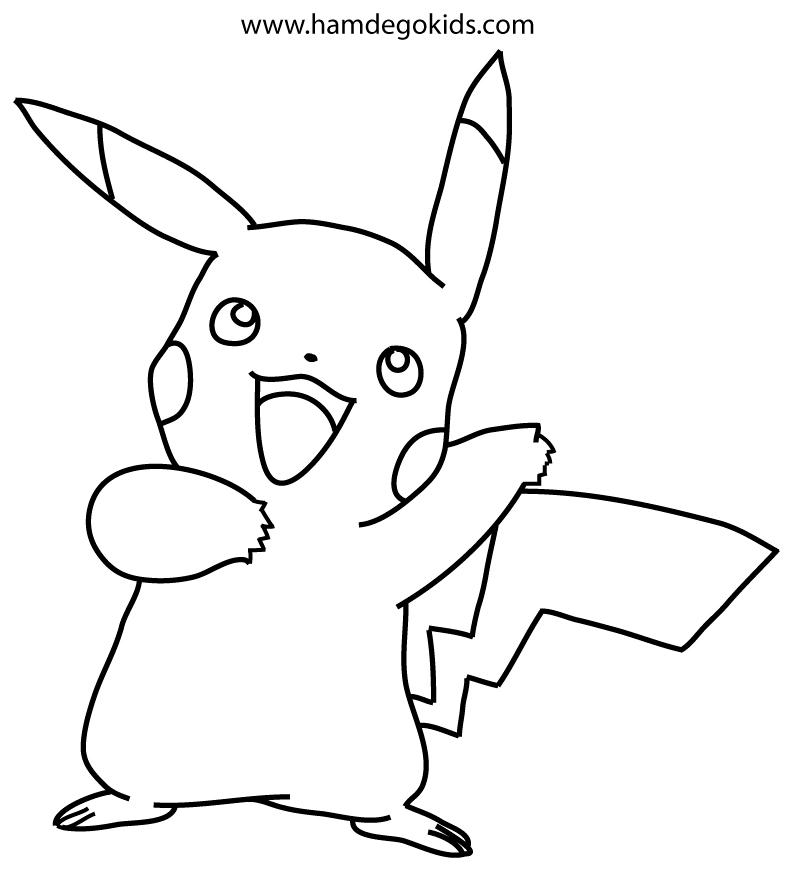 Dibujar Y Colorear A Pikachu