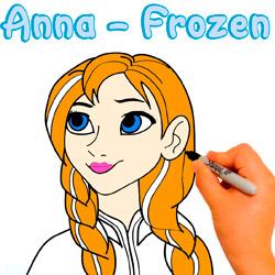 dibujar-colorear-paso-paso-anna-frozen