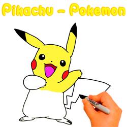 paso-paso-dibujar-colorear-pikachu-pokemon