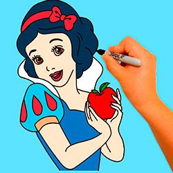 como-dibujar-a-blancanieves-paso-a-paso