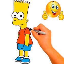 dibujar-y-colorear-a-bart-simpson-paso-a-paso
