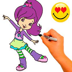 dibujar-y-colorear-a-mermelita-de-mora-STRAWBERRY-SHORTCAKE
